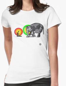 Buddha & The Elephant  Womens Fitted T-Shirt