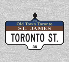 Toronto Street Sign, Toronto, Canada One Piece - Short Sleeve