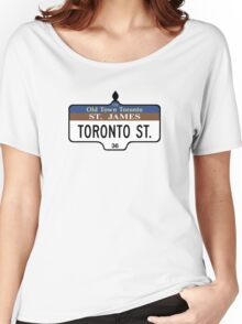 Toronto Street Sign, Toronto, Canada Women's Relaxed Fit T-Shirt
