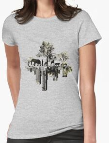Nature -human Womens Fitted T-Shirt