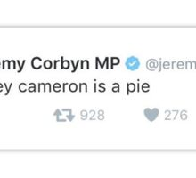 davey cameron is a pie Sticker