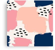 Pink, Navy and Black Abstract Canvas Print