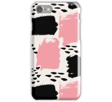 Black and Pink Abstract iPhone Case/Skin