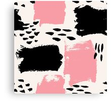 Black and Pink Abstract Canvas Print
