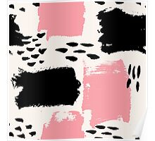 Black and Pink Abstract Poster