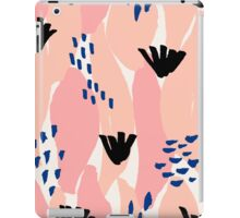 Pink, Blue and Black Abstract iPad Case/Skin