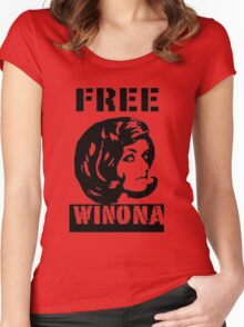 FREE WINONA Women's Fitted Scoop T-Shirt