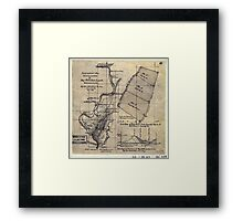 268 Topographical map showing the location of Big Hill iron lands Botetourt Co Va Framed Print