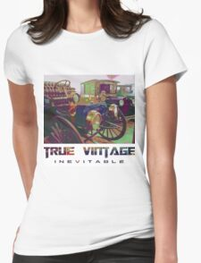 "True Vintage - ""Inevitable"" Womens Fitted T-Shirt"