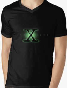 The X Files Logo Mens V-Neck T-Shirt