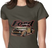 Beach Rat Rod Pickup Working on its Patina Womens Fitted T-Shirt