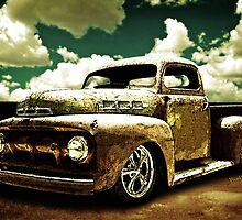 Beach Rat Rod Pickup Working on its Patina by ChasSinklier