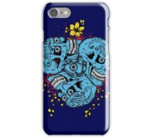 Four Blue Skulls Combined iPhone Case/Skin
