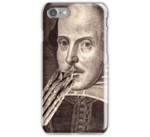 Shakespeare Eating Asparagus iPhone Case/Skin