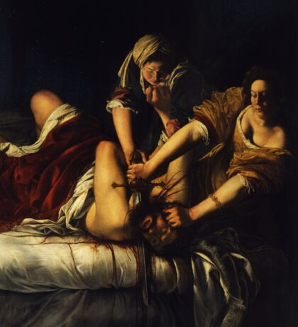 Judith Slaying Holofernes by Artemisia Gentileschi Sticker