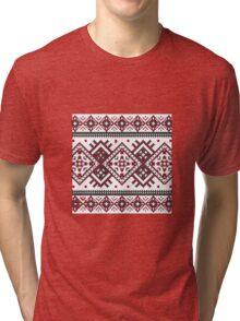 Printed Knit Leggings geometric design ornament style legging Tri-blend T-Shirt