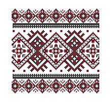 Printed Knit Leggings geometric design ornament style legging Photographic Print
