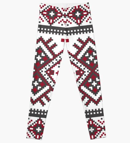 Printed Knit Leggings geometric design ornament style legging Leggings