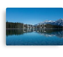 Explore Canada Canvas Print