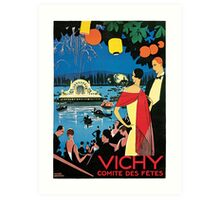 1920s Vichy French high society travel advert Art Print