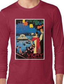 1920s Vichy French high society travel advert Long Sleeve T-Shirt