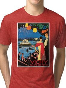 1920s Vichy French high society travel advert Tri-blend T-Shirt