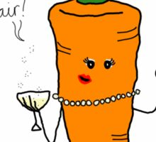 """Milady Carrot says """"Hellair!"""" Sticker"""