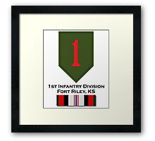 1st Infantry Afghanistan Framed Print