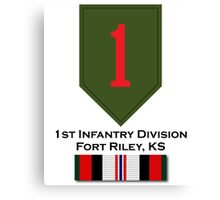 1st Infantry Afghanistan Canvas Print