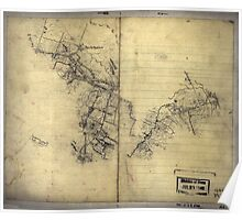 068  Preliminary sketch of a portion of the Belle Grove or Cedar Creek battlefield area Poster