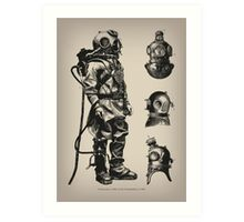 Vintage Deep Sea Diver Art Print