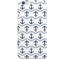 Anchor seamless pattern iPhone Case/Skin