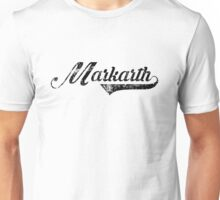 Skyrim Markarth Distressed Sports Lettering Unisex T-Shirt