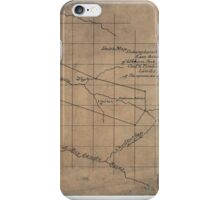 244 Sketch map showing location of 5 007 acres of Elkhorn Fork W Va coal timber lands iPhone Case/Skin