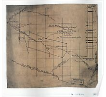 244 Sketch map showing location of 5 007 acres of Elkhorn Fork W Va coal timber lands Poster