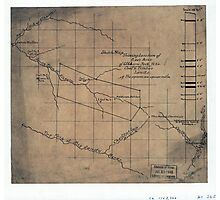 244 Sketch map showing location of 5 007 acres of Elkhorn Fork W Va coal timber lands Photographic Print