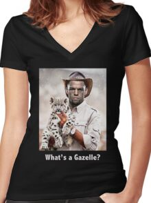 What's a Gazelle? Women's Fitted V-Neck T-Shirt