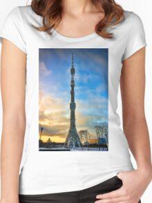 Ostankino Tower Women's Fitted Scoop T-Shirt