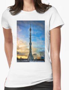 Ostankino Tower Womens Fitted T-Shirt