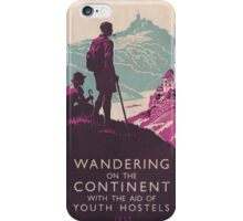 Vintage Travel Poster iPhone Case/Skin