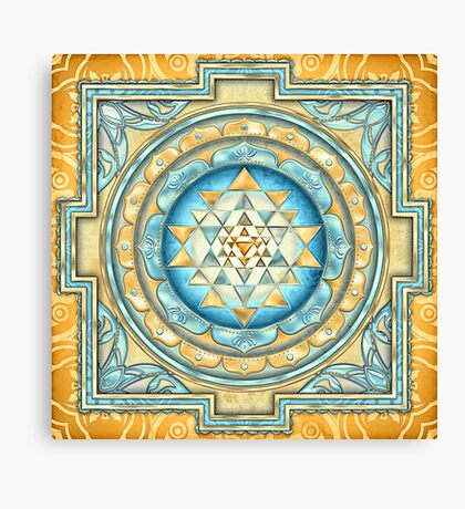 Sri Yantra A2 Canvas Print
