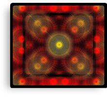 the matrix of converging spirals  Canvas Print