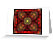 the matrix of converging spirals  Greeting Card