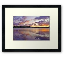 REFLECTION OF THE SKY Framed Print