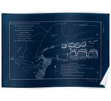 American Revolutionary War Era Maps 1750-1786 356 British camp at Trudruffrin from the 18th to the 21st of September 1777 with the attack made by Major Inverted Poster