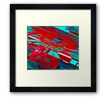 Hyper Flower Power Framed Print