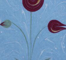 PurpleEbru Tulips Sticker