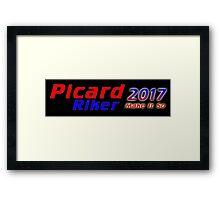 Picard/Riker 2017 Sticker Framed Print