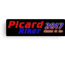 Picard/Riker 2017 Sticker Canvas Print