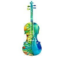 Abstract Violin Art by Sharon Cummings Photographic Print